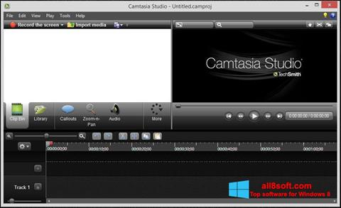 Screenshot Camtasia Studio for Windows 8