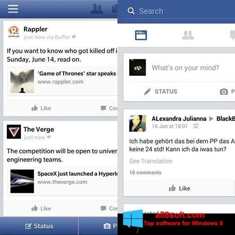Screenshot Facebook for Windows 8