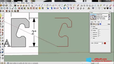 Screenshot SketchUp for Windows 8