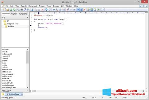 Screenshot EditPlus for Windows 8