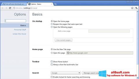 Screenshot Google Chrome Canary for Windows 8