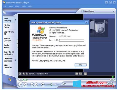 Screenshot Windows Media Player for Windows 8