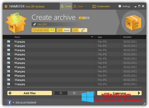 Screenshot Hamster Free ZIP Archiver for Windows 8