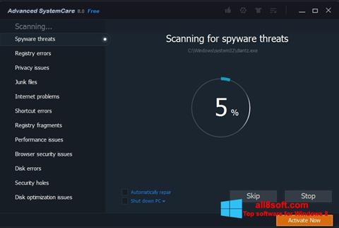 Screenshot Advanced SystemCare Pro for Windows 8