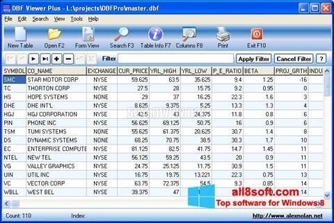 Screenshot DBF Viewer for Windows 8