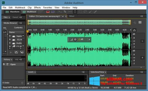 Screenshot Adobe Audition CC for Windows 8