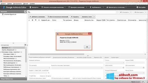 Screenshot AdWords Editor for Windows 8
