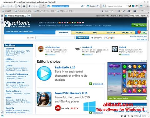 Screenshot Lunascape for Windows 8