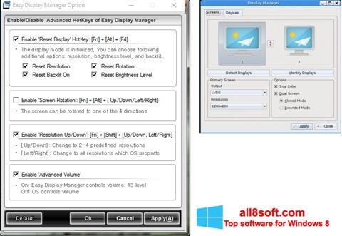 Screenshot Easy Display Manager for Windows 8